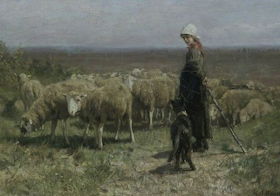 Mauve, Anton, 1838-1888; Shepherdess