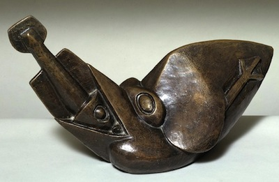 Bird Swallowing a Fish c.1913-4, cast 1964 by Henri Gaudier-Brzeska 1891-1915