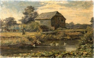Hodder, Albert, 1845-1911; Bolling Mill near the Brewery, Bridport, Dorset