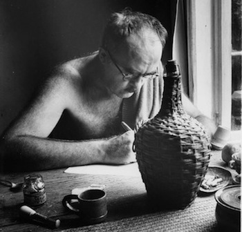 charles_olson_writing_at_black_mountain_college