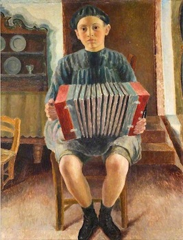 Carrington, Dora, 1893-1932; Spanish Boy, the Accordion Player
