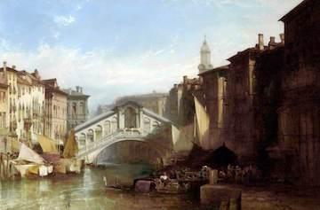 Callow, William, 1812-1908; The Rialto Bridge, Venice