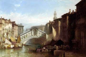 Callow, William, 1812-1908; The Rialto Bridge, Venice