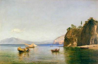 Collins, William, 1788-1847; The Caves of Ulysses at Sorrento, Naples