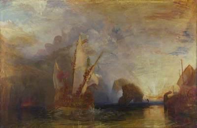 Turner, Joseph Mallord William, 1775-1851; Ulysses deriding Polyphemus- Homer's Odyssey