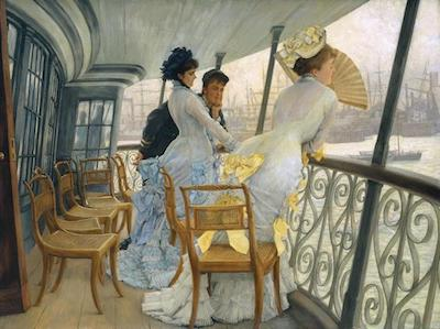 The Gallery of HMS Calcutta (Portsmouth) c.1876 by James Tissot 1836-1902