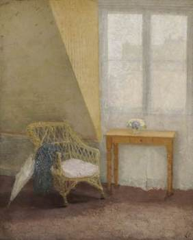 John, Gwen, 1876-1939; A Corner of the Artist's Room in Paris