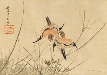 hokusai-sparrows