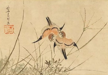 hokusai-sparrows