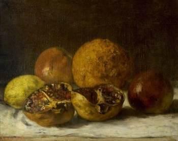 Courbet, Gustave, 1819-1877; Pomegranates