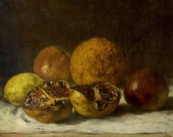 Courbet, Gustave, 1819-1877; Pomegranates