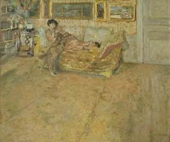 Vuillard, Jean Edouard, 1868-1940; Interior with Madame Hessel and Her Dog