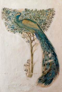 Burne-Jones, Edward, 1833-1898; A Peacock