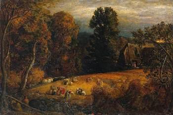 Palmer, Samuel, 1805-1881; The Gleaning Field