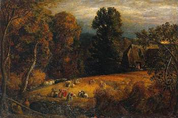 Palmer, Samuel, 1805-1881; The Gleaning Field