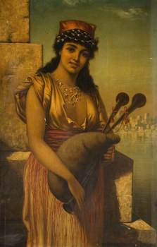 Long, Edwin, 1829-1891; Girl with Bagpipes