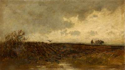 Longmuir, Alexander Davidson, c.1843-1891; Ploughing after a Shower