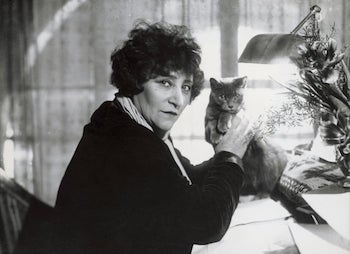Colette-and-cat