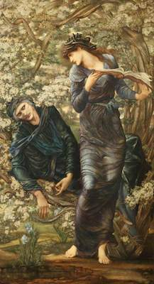 Burne-Jones, Edward, 1833-1898; The Beguiling of Merlin