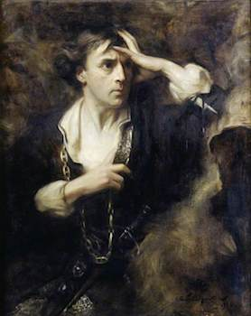 Hacker, Arthur, 1858-1919; Sir John Martin-Harvey (1863-1944), as 'Hamlet'