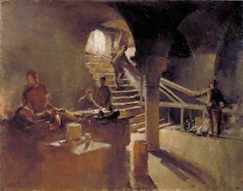 Tonks, Henry, 1862-1937; An Underground Casualty Clearing Station, Arras